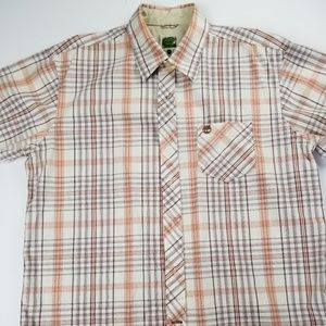 Mens Short Sleeve Timberland Button Down Shirt